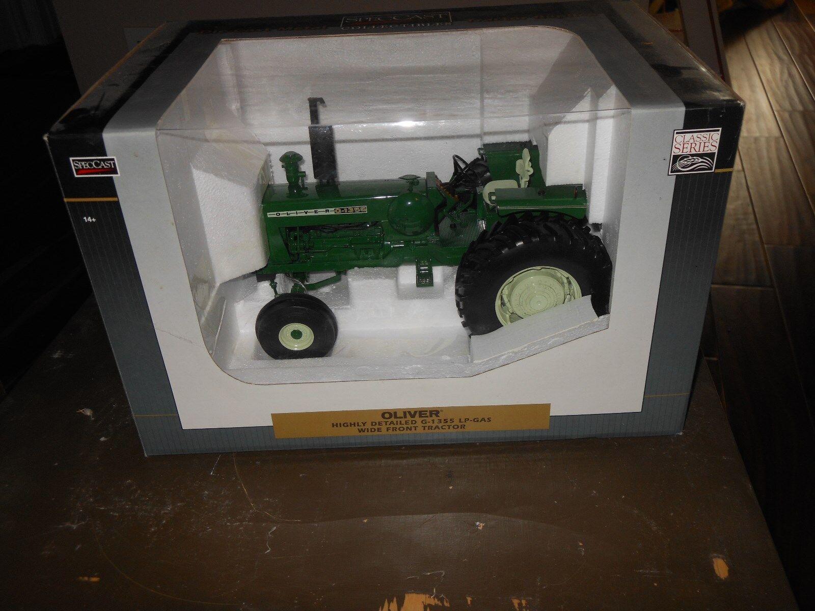 Oliver G1355 LP jouet tracteur (Blanc, Moline) très détaillé