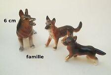 magnifique famille de 3 chiens en porcelaine, collection, dog, honden, S1-B