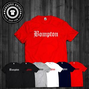 8e720b68 T Shirt Bompton Compton Blood Hunnid Gangsta Rap Brazy YG Hood Dope ...
