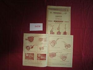 SéRieux N°10575 / 2 Catalogues P.moreau & Cie Remorques,chariots,1954 Qualité Et Quantité AssuréE