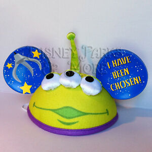 ba45cee2f Details about Disney Parks Pixar Toy Story Little Green Men Alien Claw  Mickey Ears Hat - Adult