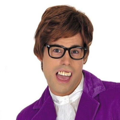 60s 1960s 90s 1990s Gigolo Fancy Dress Wig Austin Powers Wig New fs