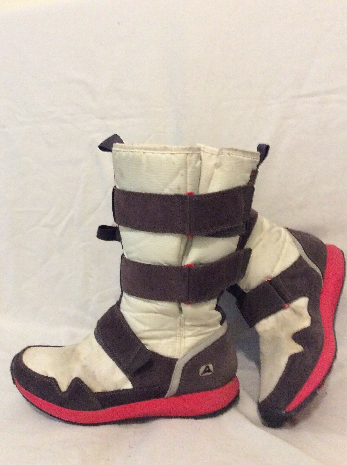 Clarks White&Brown Mid Calf Boots Size 5D