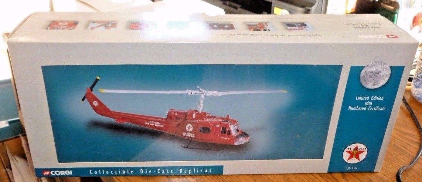 Free Ship  RARE Corgi   Texaco HUEY   UH-1 BELL 204 HELICOPTER DIE-CAST REPLICA