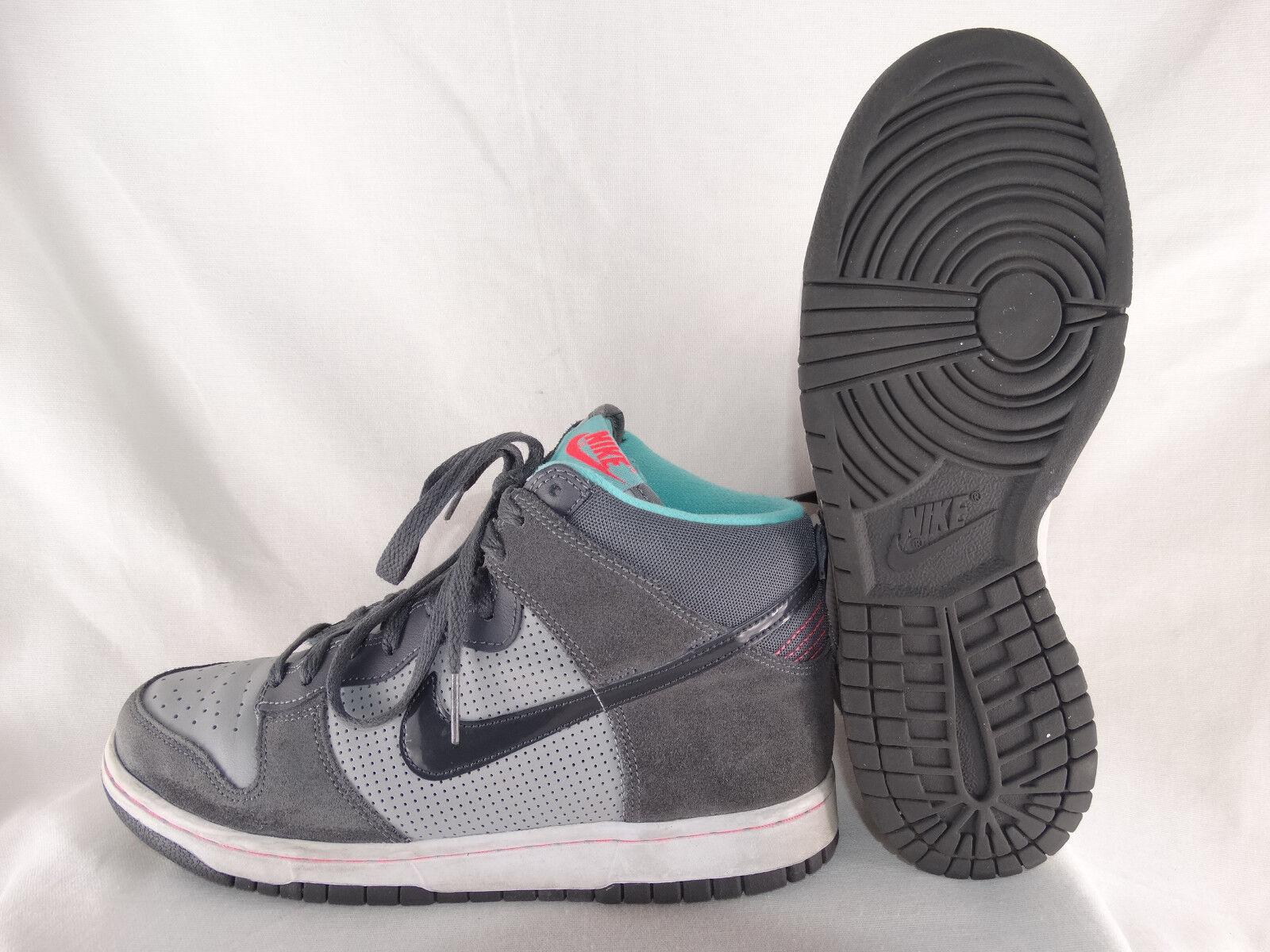 Nike Dunk High (GS) Kids Damen Turnschuhe 308319-025 grau-mint EU 40 US 7Y Leichte Schuhe