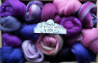 100g Wool Roving shades of purple / Merino, British, Natural, Needle felting