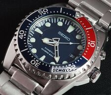 SEIKO PROSPEX KINETIC SCUBA DIVER MENS WATCH 200M SKA369 SKA369P1 BLUE, SS BAND
