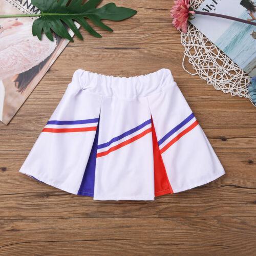 Kids Cheerleader Costume School Girls Outfits Fancy Dress Cheer Leader Uniform