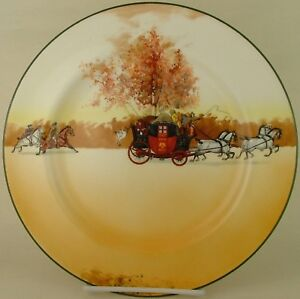 d842c1754cc40 Image is loading Royal-Doulton-Coaching-Days-Pursued-E3804-Dinner-Plate-