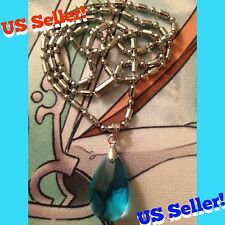Sword Art Online SAO Yui's Heart Blue Crystal Necklace Asuna Yuuki Anime Cosplay