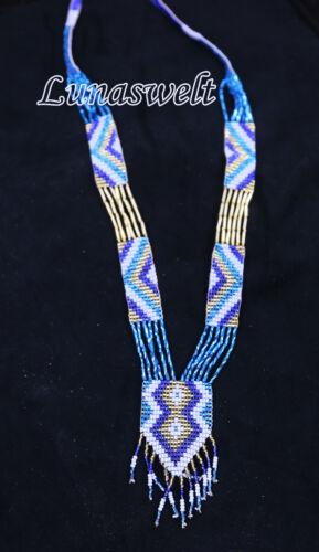 Indio Glas Perlen Kette verschiedenne Farben aus Peru