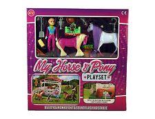 NUOVO Bambine My Horse & Pony Playset Giocattolo Regalo Set