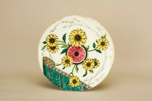 1880-Cake-Plate-Antique-Doulton-Aesthetic-Sunflower-Serving-Dish-Victorian
