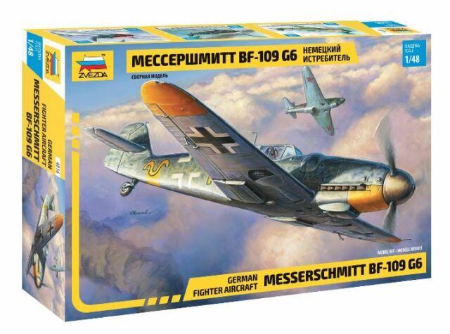 Messerschmitt Bf-109 G6 Plastic Kit 1:48 Model 4816 ZVEZDA