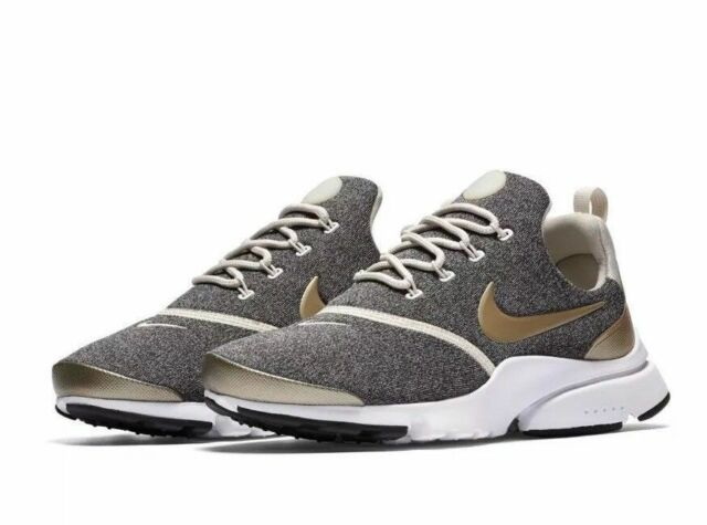 separation shoes 64404 65c14 WOMENS NIKE PRESTO FLY SE SIZE 6 EUR 40 (910570 101) GREY  GOLD