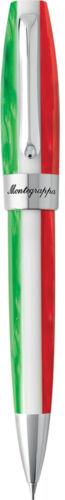Montegrappa Fortuna Tricolore Italian Flag /& Palladium Trim Mechanical Pencil
