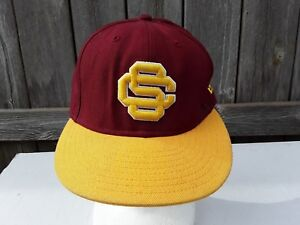 cheap for discount 1a3b0 af2f1 Image is loading USC-Trojans-Cardinal-Gold-Red-Yellow-New-Era-