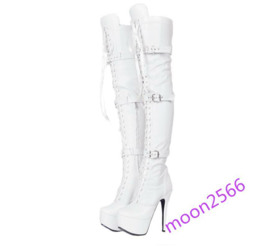 Sexy party party party womens over knee thigh high boots platform stilettos high heels shoes a9fbd9
