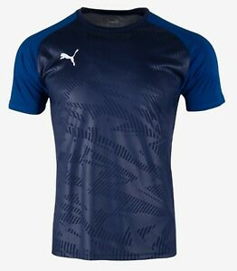 Details about PUMA Men Cup Training Core Shirts S/S Dry-Cell Jersey Navy Tee Shirt 65627106