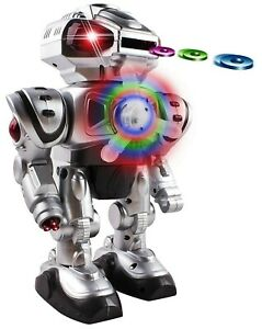 Walking-Android-Toy-Robot-With-Shooting-Disc-Flashing-Lights-And-Sound-Action-S