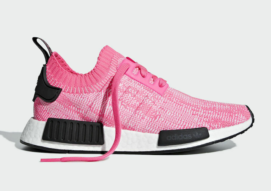 competitive price 42014 bea17 ADIDAS Women's NMD R1 PRIMEKNIT BOOST Solar Pink Running SZ 9 EUR 41.5 NEW