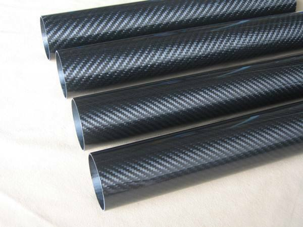 45MM OD x 41MM ID Carbon Fiber Tube 3k 500MM Long  Roll Wrapped  pipe 45*41