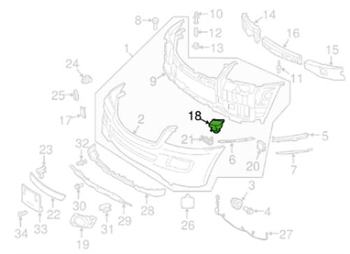MB M W164 Vorne Vorne Vorne Rechts Scheinwerfer Wäscher Abdeckung A16486002089040 c7fdeb
