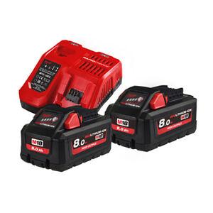 Milwaukee M18 Hnrg 802 Energy Pack 18v 2 Battery 8 0ah Li Ion Battery Chargers Ebay