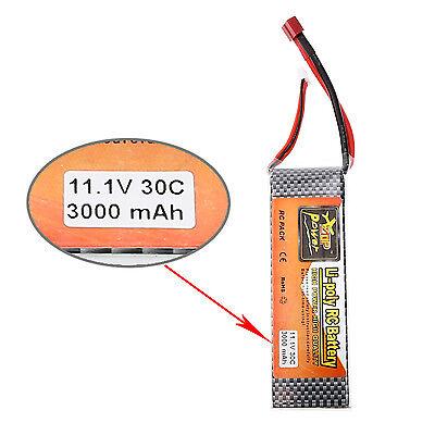 11.1V 3000mAh 30C 3S Lipo batterie T Branchez Pour Align Trex 450 hélicoptères