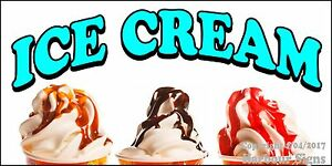 (Choose Your Size) Ice Cream Sundaes DECAL Food Truck Concession Restaurant