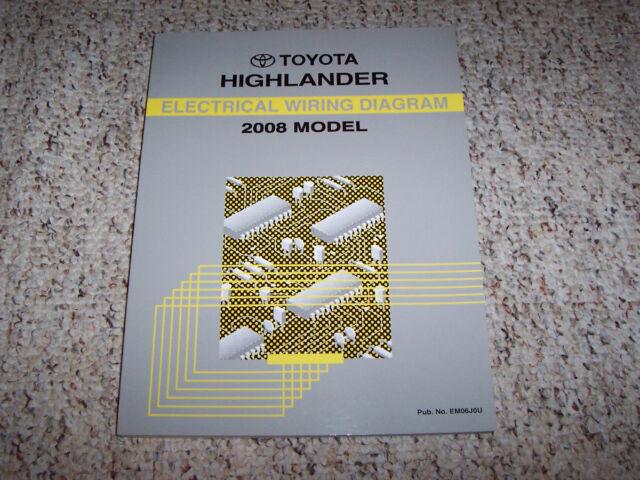 2008 Toyota Highlander Electrical Wiring Diagram Manual