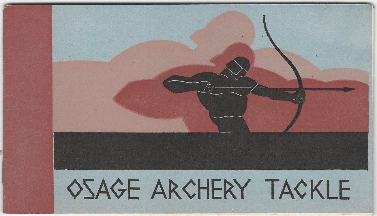 1930s Osage tiro con arco arcos, flechas y Accesorios catálogo ilustrado