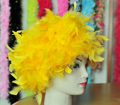 Red Hackle Feather Raven Crow Swan Coque Halloween Costume Wig GA, USA