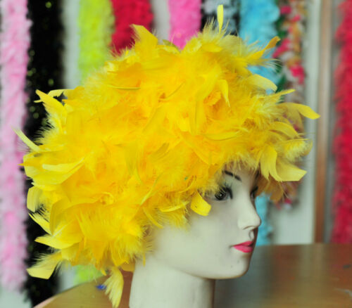Wig Feather Wig Gold Chandelle Feather Costume Wig Halloween Wig Bird Costume