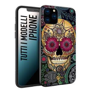 Dettagli su Custodia Cover Morbida nera black opaco INKOVER teschio messicano tattoo skull
