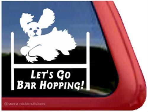 Let/'s Go Bar Hopping!Cocker Spaniel Agility Dog High Quality Vinyl Decal