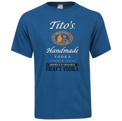 TITO/'s VODKA-Handmade-America/'s Original Craft Vodka-Regular Fit Blue T-shirt