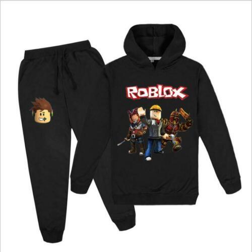 2PCS ROBLOX Boys Hoodies Top+Pants Set Girls Hooded Tracksuit Age 5-13 years