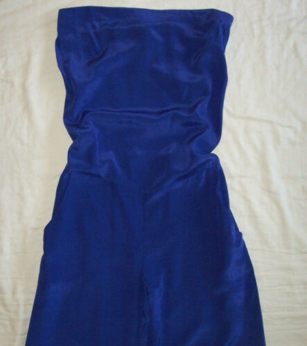 S Collection Jumpsuit Blue Dress Silk No Strapless SYnxapwUw