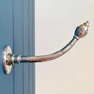 CHROME ART DECO COAT HOOKS VINTAGE HANGERS HOOK DOOR HANDLES KNOBS