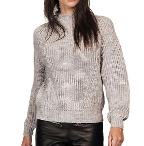 UK-Plus-Sizes-16-18-Ladies-Grey-Chunky-Knit-Long-Sleeved-Jumper
