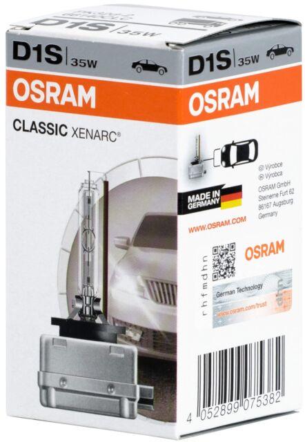 D1s Xenon Lampe de Phare Brûleur Osram Xenarc 66140Clc Electronique Classic 35