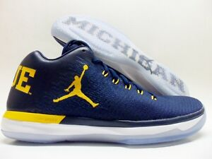 NIKE AIR JORDAN XXXI LOW MICHIGAN WOLVERINES NAVY/AMARILLO MEN 9.5 [897564-425]