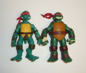 Lot-of-2-TMNT-Action-Figures-Raphael-Teenage-Mutant-Ninja-Turtles