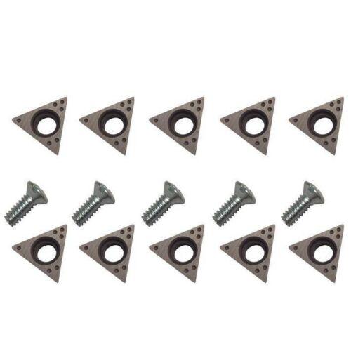 10 PIECE 6918-10 Brake Lathe Carbide Bits Positive Rake for AMMCO 6918