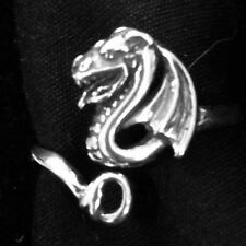 New STERLING SILVER Dragon Ring .925 Sterling Silver ADJUSTABLE DRAGON Ring