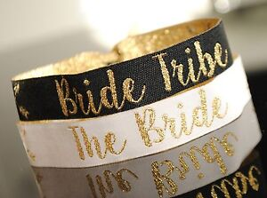 Image Is Loading Bride Tribe Hen Do Party Wristbands Bachelorette