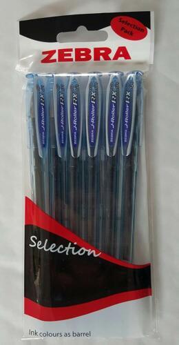 ZEBRA J ROLLER RX PENS 0.5 PACK OF 6 BLUE INK