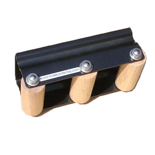 Revêtement de sol tapis couture tracteur jointage rouleaux à pointes et lisse en bois roues