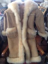 Vintage Overland Shearling Sheepskin Women's Coat - Size 10